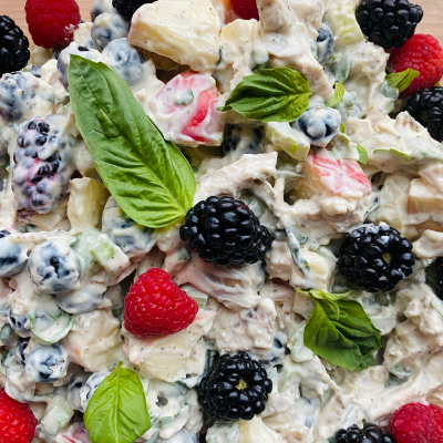 Summery Basil Berry Chicken Salad